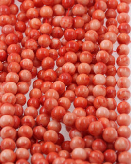 imitation coral beads pink & red
