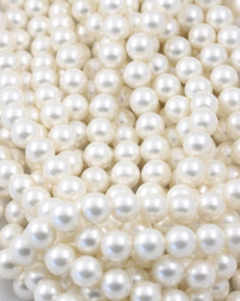 shell pearl round beads white