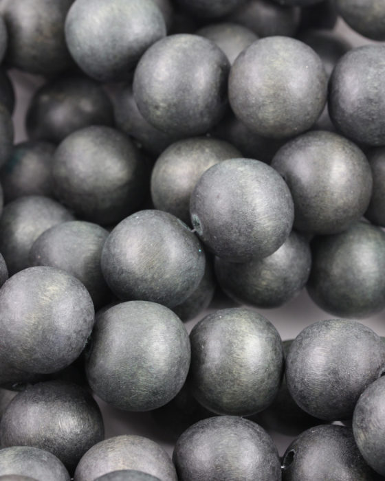 wooden beads 25mm grey
