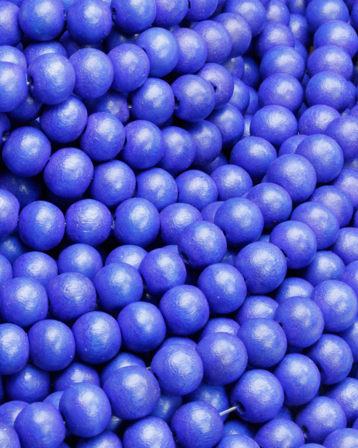 wooden beads 8mm dazzling blue