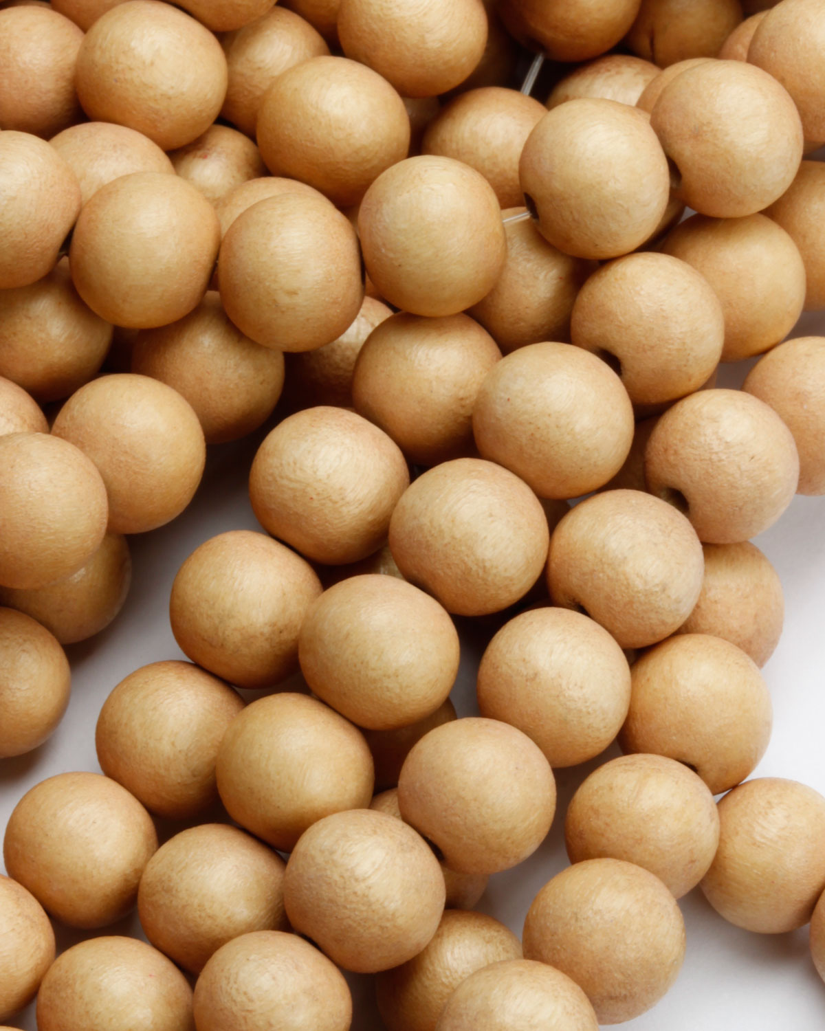 wooden beads 8mm sand
