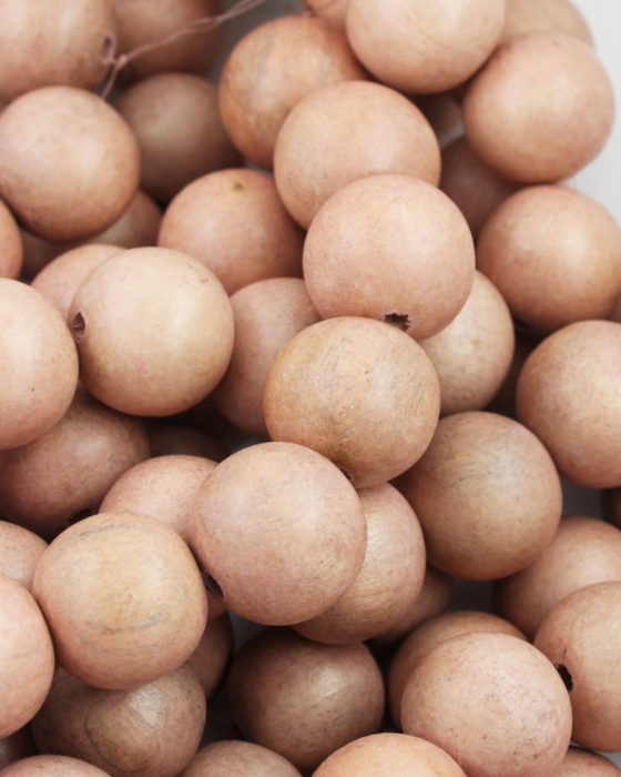 wooden beads 25mm toasted almond