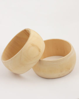 wooden natural bangle 40mm