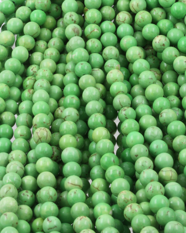 howlite beads green