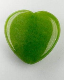 jade heart green