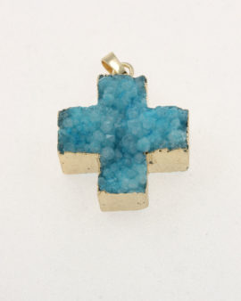 agate cross pendant turquoise