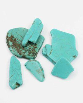 Howlite slice turquoise