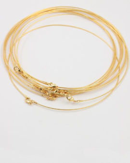 neck wire with lobster catch gold