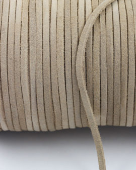 suede leather cord 3mm tan