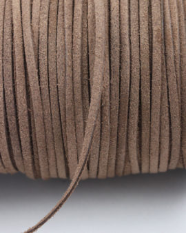 suede leather cord 3mm brown