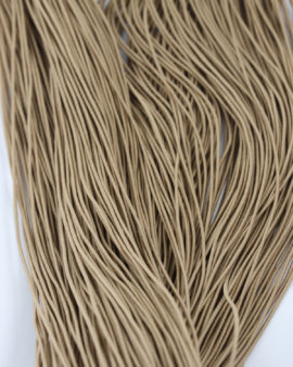 elastic cord 1mm light brown