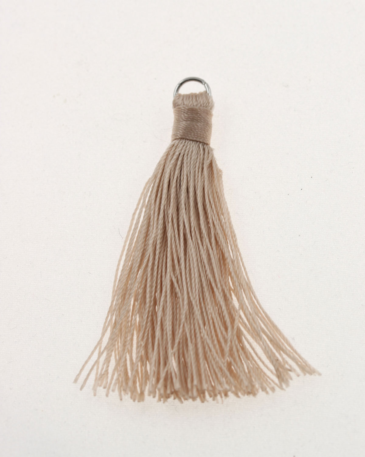 cotton tassels with metal ring