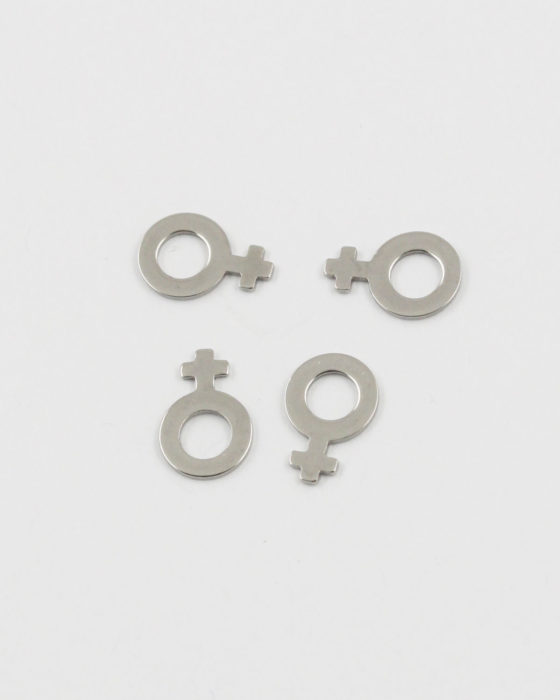 female gender sign charm 11x7.5mm stainless steel