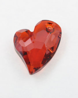 Pendant, Swarovski crystal, Devoted to U heart # 6261 - 36 mm - Sold individually