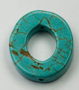 Howlite Oval ring - Sold per String - approx. 20 pcs per string
