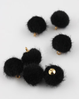 pom pom 15mm black