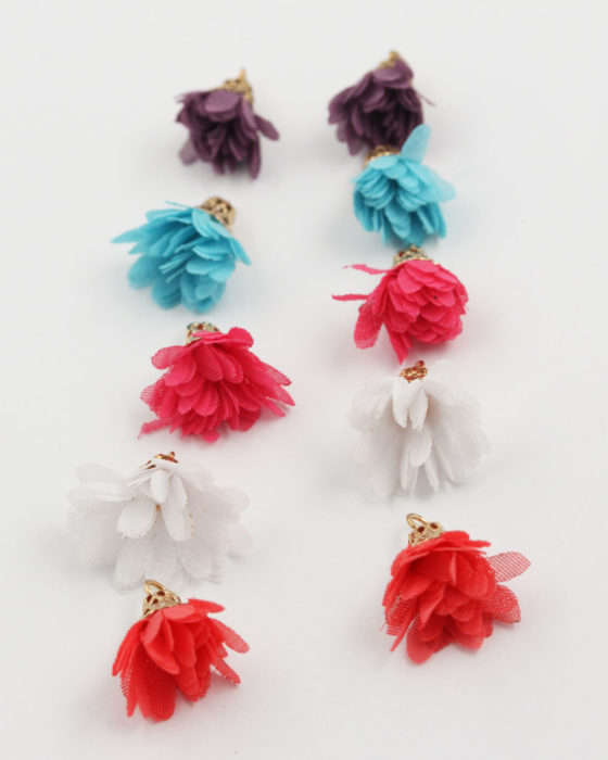 small fabric flower mix colour