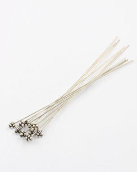 sterling silver head pin 75mm