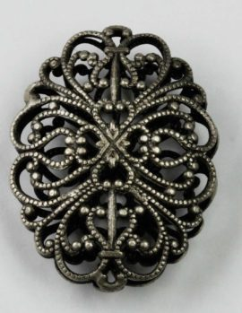 Double sided Oval Filigree