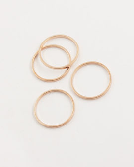 metal round shape 20mm rose gold