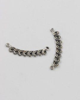spiral bail antique silver