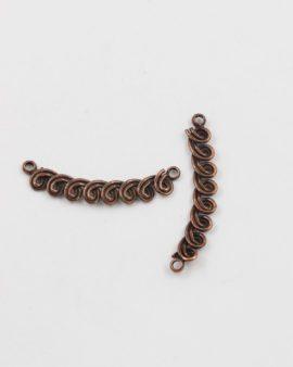 spiral bail antique copper