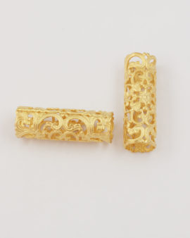 Cut out Filigree tube matt gold 11.3x40mm matt gold