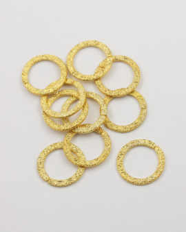 round ring 20mm gold
