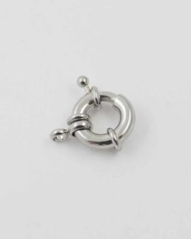 Bolt ring antique silver 15mm