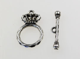 Crown Toggle Clasp - Sold per pack of 20 pieces