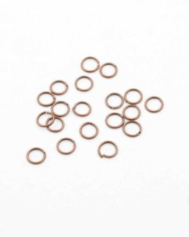 jump ring 6mm antique copper