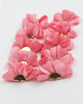 large fabric flowers pink