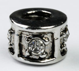 Pandora Style - Charm Spacer with small set Rhinestone