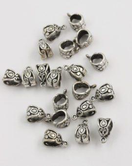 bail drop design 7x8mm antique silver