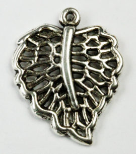 Filigree Leaf Charm - Sold per packs of 10 ( 1=10 pieces )