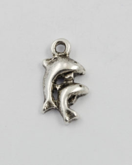 dolphin charm antique silver