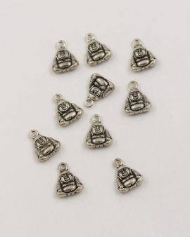 small buddha charm antique silver