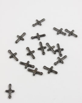 tiny cross charm black