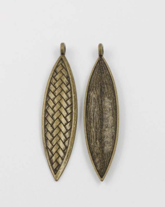 weaved style pendant antique brass