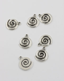 koru charm 15mm antique silver