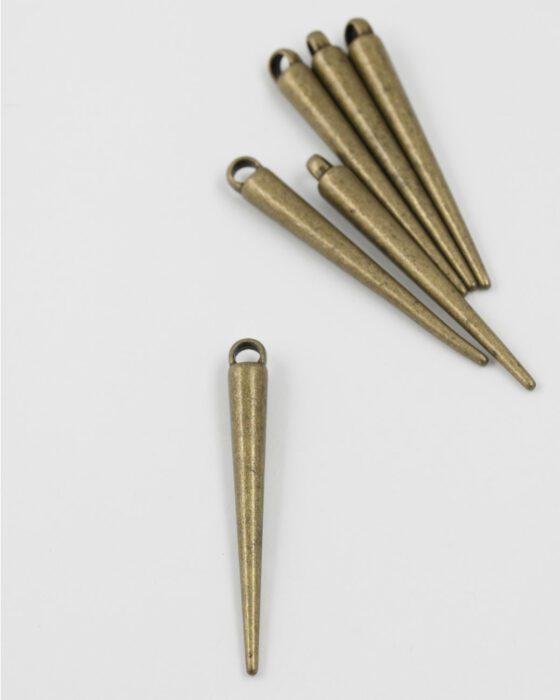 spike pendant antique brass