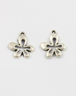 flower charm antique silver