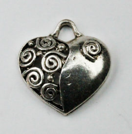 Heart Pendant - Sold per packs of 10 (1=10 pieces )
