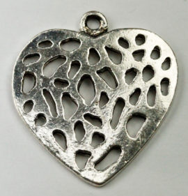 Cut out Heart Pendant - Sold per packs of 10 ( 1=10 pieces )