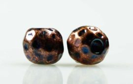 Metal bead blue coated- Sold in packs of 20 pieces (1=20 pieces)