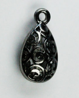 Hollow filigree Teardrop charm - Sold in packs of 10 ( 1=10 pieces )