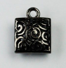Hollow filigree Square charm - Sold in packs of 10 ( 1=10 pieces )
