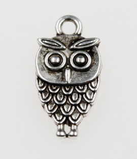 Owl charm - Sold per pack of 20 pieces