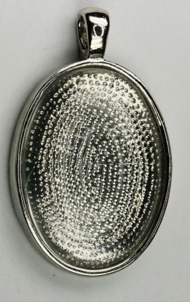 Oval flat pendant bezel