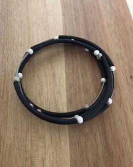 pvc rubber cord bracelet
